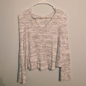 Altar'D State grey LS blouse